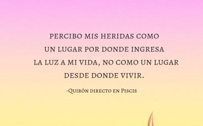 QUIRÓN DIRECTO EN PISCIS